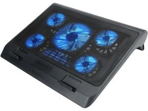 """ENHANCE GX-C1 Laptop Cooling Stand (15.75"""" x 12.75"""") with 5 LED Fans & Dual USB Ports for Data Pass Through"""