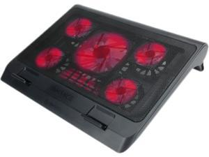 "ENHANCE GX-C1 Laptop Cooling Stand (15.75"" x 12.75"") with 5 LED Fans & Dual USB Ports for Data Pass Through"