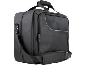 Universal Portable Electronics Carrying Case with Custom Storage Compartments, Adjustable Shoulder Strap & Padded Interior by USA GEAR - Works w/ Tablets, Laptop Computers, Travel Projectors & More