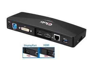 Club3D Black CSV-3103D DOCK STATION. USB 3.0 DOCKING STATION 4K +DVI