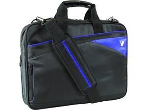 """V7 Black with blue accents 13.3"""" Edge Slim Laptop Toploader Model CTD4-BLU-9N"""