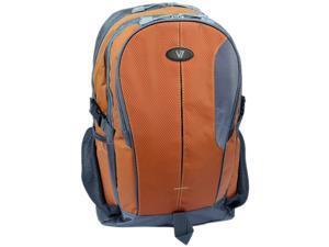 "V7 Odyssey Carrying Case (Backpack) for 15.6"" Notebook - Orange, Gray"