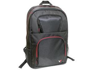"""V7 VANTAGE Carrying Case (Backpack) for 16.1"""" Notebook - Black, Red"""