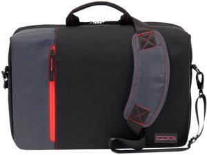"Codi Black and Red UltraLite 15.6"" Hybrid Messenger Model C2300"