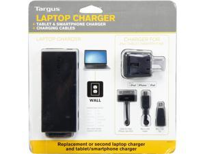 Targus APA024US 90W Power Adapter for Laptops w/USB Charger for smartphones, tablets, and most USB-charged devices