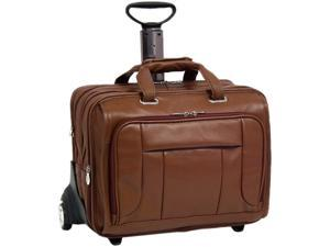 "McKlein Brown 17"" WEST TOWN Fly-Through Checkpoint-Friendly Detachable-Wheeled Laptop Case Model 15704"