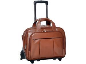 "McKlein Brown 17"" DAMEN Detachable-Wheeled Laptop Case Model 80714"