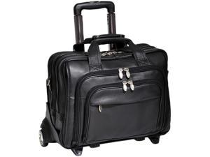 "McKlein Black 17"" GOLD COAST Detachable-Wheeled Laptop Case Model 43185"