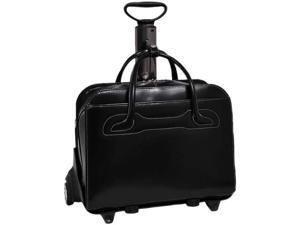 "McKlein Black 17"" WILLOWBROOK W Series Detachable -Wheeled Ladies' Briefcase Model 94985"