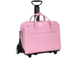 "McKlein Pink 17"" WILLOWBROOK W Series Detachable -Wheeled Ladies' Briefcase Model 94989"