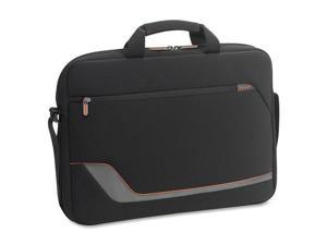 "SOLO Black/Gray Notebook Slim Case with Padded 17.3"" Model VTR124-4"