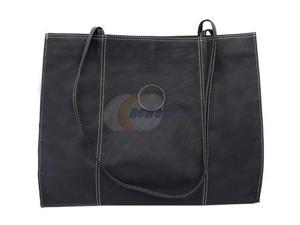 Piel LEATHER 2507-BLK Carry-All Market Bag Black