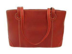 Piel LEATHER 2404-RD Shopping Tote Red