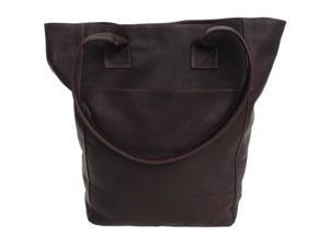 Piel LEATHER 7067-CHC XL Shopping Bag Chocolate