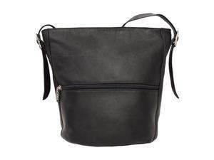 Piel LEATHER 9707-BLK Bucket Bag Black