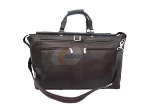 Piel LEATHER 9506-CHC Chocolate Carpet Bag with Pockets