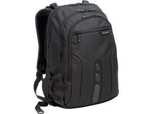 """Targus Black/Green 15.6"""" Spruce EcoSmart Backpack Model TBB013US"""