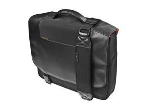 "Everki Black Enhance Laptop Messenger Bag w/Sleeve included, fits up to 15.4"" Model EKB422NBK"
