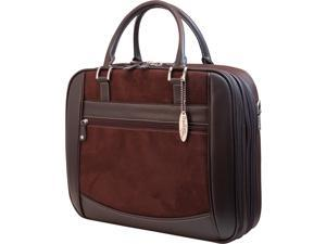 "Mobile Edge Brown 16"" ScanFast Element Checkpoint Friendly Briefcase Model MESFEB8"