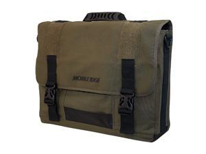 "Mobile Edge Olive Green 17.3"" Eco-Friendly Laptop Messenger Model MECME9"