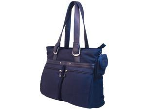 "Mobile Edge Navy Eco-Friendly Canvas Laptop Tote - 16"" PC/17"" MacBook Model MECTE33"