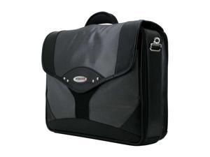Mobile Edge Premium Black Laptop Briefcase - Silver (MEBCP2)
