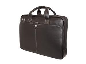 "Mobile Edge Black Deluxe Leather Laptop Briefcase - 16"" PC/17"" MacBook Model MEBCL1"