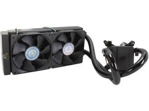 Cooler Master Glacer 240L – Expandable CPU Liquid Water Cooling System with 240mm Copper Radiator and 2 Fans