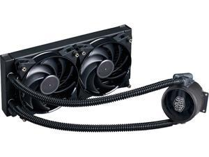 MasterLiquid Pro 240 All-In-One (AIO) Liquid Cooler with FlowOp Technology, Dual Chamber Design and MasterFan Pro Radiator Fans by Cooler Master