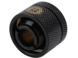"Thermaltake Pacific CL-W030-CA00BL-A Pacific DIY LCS Black 1/2"" ID x 3/4"" OD Compression Fitting"