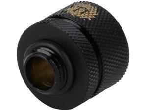 "Thermaltake Pacific CL-W031-CA00BL-A Pacific DIY LCS Black 1/2"" ID x 5/8"" OD Compression Fitting"
