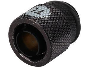 "Thermaltake Pacific CL-W033-CA00BL-A Pacific DIY LCS Black 3/8"" ID x 1/2"" OD Compression Fitting"