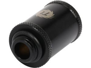 Thermaltake Pacific CL-W044-CU00BL-A Pacific DIY LCS Black G1/4 Male to Male 30mm Extender Fitting