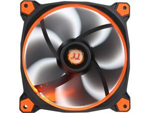 Thermaltake Riing 14 Series High Static Pressure 140mm Circular Orange LED Ring Case/Radiator Fan CL-F039-PL14OR-A