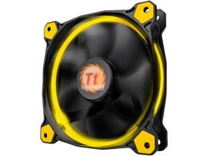 Thermaltake Riing 14 Series High Static Pressure 140mm Circular Yellow LED Ring Case/Radiator Fan CL-F039-PL14YL-A