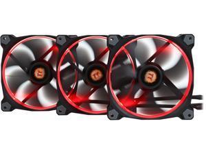 Thermaltake Riing 14 RGB Series High Static Pressure 140mm Circular RGB LED Ring Case/Radiator Fan - Triple Pack - CL-F043-PL14SW-B