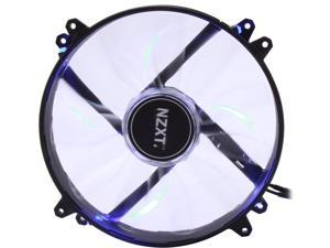 NZXT RF-FZ20S-U1 200mm Blue LED True 200mm Wide Blue LED Fan with Sleeved-Cable