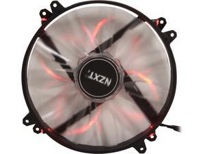 NZXT RF-FZ20S-R1 200mm Red LED Case Fan with Sleeved-Cable