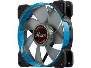 Rosewill 120mm Case Fan with Blue LED and PWM (Pulse Width Modulation) Function, Very Quiet Cooling Fan from Advanced Hydraulic Bearing, Model RWCB-1612