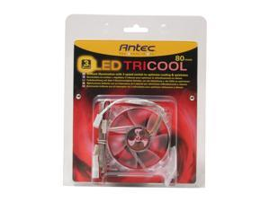 Antec 761345-75022-6 80mm Red LED 3-Speed Red LED Fan