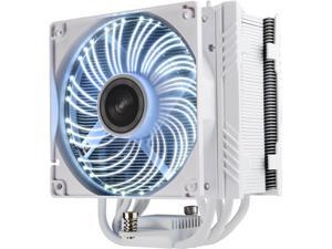 ENERMAX ETS-T50A-WVS Twister Aluminum 120mm White CPU Cooler with DFR (Dust Free Rotation) White LED Fan