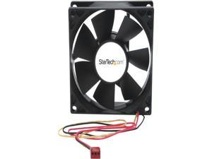 StarTech.com 80x25mm Dual Ball Bearing Computer Case Fan with TX3 Connector - Black (FANBOX2)