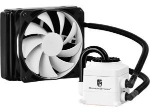 DEEPCOOL Gamer Storm CAPTAIN 120 CPU Liquid Cooler AIO Water Cooling Ceramic Bearing Pump Visual Liquid Flow with 120mm FDB PWM Fan Rubber Coating Deep Silent Support LGA 2011-v3