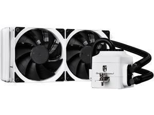 DEEPCOOL Gamer Storm CAPTAIN 240EX WHITE CPU Liquid Cooler AIO Water Cooling Ceramic Bearing Pump Visual Liquid Flow 120mm PWM Fan Deep Silent Support LGA 2011-v3