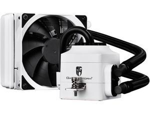 DEEPCOOL Gamer Storm CAPTAIN 120EX WHITE CPU Liquid Cooler AIO Water Cooling Ceramic Bearing Pump Visual Liquid Flow with 120mm PWM Fan Rubber Coating Deep Silent Support LGA 2011-v3