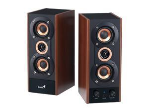 Genius SP-HF800A 20W 2.0 3-Way Hi-Fi Wood Speakers