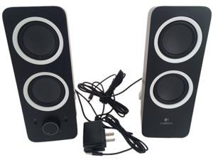 Refurbished: Logitech Multimedia Speakers Z200 with Stereo Sound for Multiple Devices, Black 980-000800