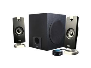Cyber Acoustics CA-3090 9 Watts 2.1 3 Piece Flat Panel Design Subwoofer & Satellite Speaker System