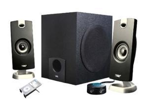 Cyber Acoustics CA-3090 9 Watts total RMS 2.1 3 Piece Flat Panel Design Subwoofer & Satellite Speaker System