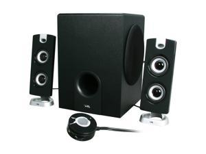 Cyber Acoustics CA-3602 30 Watts 2.1 3 Piece Flat Panel Design Subwoofer & Satellite Speaker System